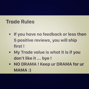 Other - TRADE RULES